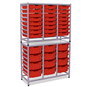Click here for more Dynamis Double Combo Cart Sets by Gratnells by Worthington
