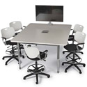 Click here for more Interchange Rectangle Multimedia Table by Smith System by Worthington