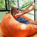 Click here for more Saxx Kids 3' Round Bean Bag Chair by Jaxx by Worthington