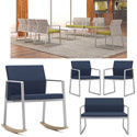 Click here for more Gansett Steel Series Reception Seating by Lesro by Worthington