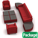 Click here for more Lounge C Modular Soft Seating Package by Mooreco by Worthington