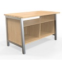 Click here for more Work Tables with Shelves by LIAT by Worthington