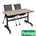 Click here for more Kobe Flip Top Training Table & Apprentice Chairs by Regency by Worthington