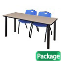 Click here for more Kee Training Table & M Stacker 4700 Chairs by Regency by Worthington