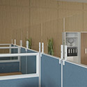 Click here for more Mounted Tempered Glass Screen Guards by NDI Office Furniture by Worthington