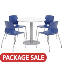 Click here for more Mode Cafe Table with Four Lola Stack Chairs by Olio Designs by Worthington