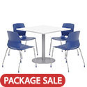 Click here for more Mode Square Cafe Table with Four Lola Stack Chairs by Olio Designs by Worthington