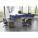 Click here for more Variant 120 Degree Desk Suite for Four by OfficeSource by Worthington