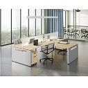 Click here for more Variant L-Shaped Desk Quad by OfficeSource by Worthington