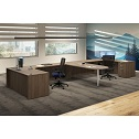 Click here for more OS Laminate L-Shaped Desk Pair by OfficeSource by Worthington