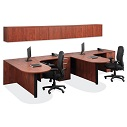 Click here for more OS Laminate L-Shaped Bullet Desk Pair by OfficeSource by Worthington