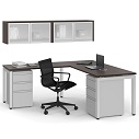Click here for more Variant L-Shaped Desk with Hutch by OfficeSource by Worthington