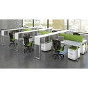 Click here for more Variant L-Shaped Desk Suite for Six by OfficeSource by Worthington