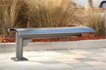 Click here for more Phoenix Cantilever Horizontal Steel Slat Bench by UltraPlay by Worthington
