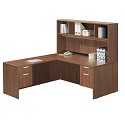 Click here for more Classic Series PL101 L-Shaped Desk w/ Hutch by NDI Office Furniture by Worthington