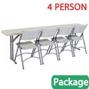 Click here for more Plastic Seminar Folding Table & Folding Chair Package by National Public Seating by Worthington