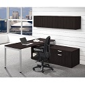 Click here for more Elements PLT16 L-Shaped Desk w/ Wall Storage by NDI Office Furniture by Worthington
