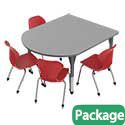 Click here for more Premier Multimedia Table and Apex Stack Chair Package by Marco Group by Worthington
