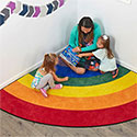 Click here for more Gather Round Rainbow Corner Carpet by ECR4Kids by Worthington