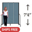 "Click here for more 7' 4"" H Portable Freestanding Partition by Screenflex by Worthington"
