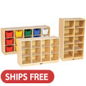 Click here for more Small 10, 12 & 15 Cubbie Tray Birch Storage Units by ECR4Kids by Worthington