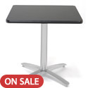 Click here for more Mode Silver Arched Base Square Cafe Tables by KFI by Worthington