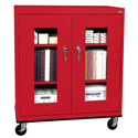 Click here for more Clear View Counter Height Mobile Cabinet by Sandusky Lee by Worthington