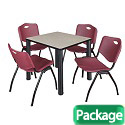 Click here for more Kee Base Cafe Table and Four M Stacker 4700 Chairs by Regency by Worthington