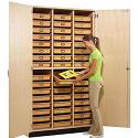 Click here for more Tote Tray Storage Cabinet by Diversified Woodcrafts by Worthington