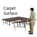 Click here for more TransFold Dual Height Stages w/ Carpet Deck by Midwest by Worthington