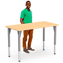 Click here for more 5000 Series Standing Height Adjustable Activity Tables by Virco by Worthington
