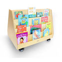 Click here for more Two-Sided Mobile Book Display Stand by Whitney Brothers by Worthington