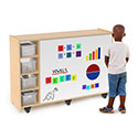 Click here for more Magnetic Write and Wipe Mobile Cabinet by Whitney Brothers by Worthington