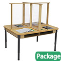 Click here for more Four Person Desk with Sneeze Guard by Wood Designs by Worthington