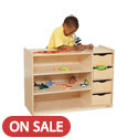 Click here for more Storage Center with Drawers by Wood Designs by Worthington