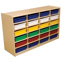 """Click here for more 3"""" Letter Tray Mobile Storage Units w/ 12, 16 or 24 Trays by Wood Designs by Worthington"""