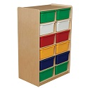 """Click here for more 5"""" Letter Tray Mobile Storage Units w/ 8, 12 or 16 Trays by Wood Designs by Worthington"""