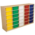 """Click here for more 5"""" Letter Tray Mobile Storage Units w/ 20, 24 or 30 Trays by Wood Designs by Worthington"""