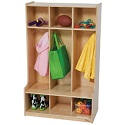 Click here for more 3 Section Seat Locker by Wood Designs by Worthington