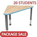 Click here for more Classroom Set- 20 Wing Desks by Smith System by Worthington