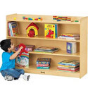 Mobile Adjustable Bookcase with Lip by Jonti-Craft
