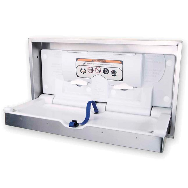 Clad Stainless Steel Horizontal Wall Changing Station