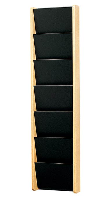 1070-solid-painted-front-pocket-wall-magazine-rack-7-pocket