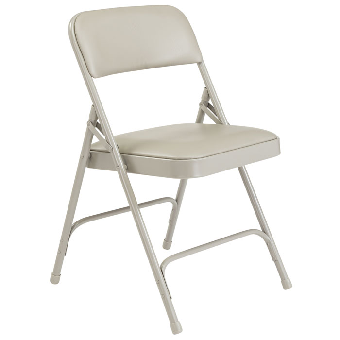 Marvelous Padded Folding Chair Gray Vinyl Gray Frame Pabps2019 Chair Design Images Pabps2019Com