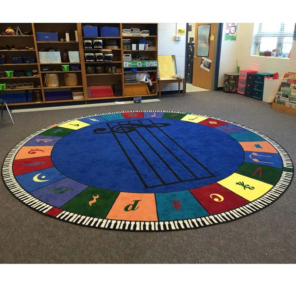 "Carpets For Classrooms For Toddlers: Joy Carpets 13'2"" Round, Note Worthy Carpet"