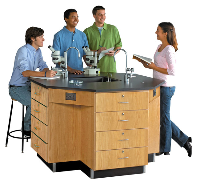 1646k-octagon-lab-workstation-60-diameter-drawer-base-with-sink