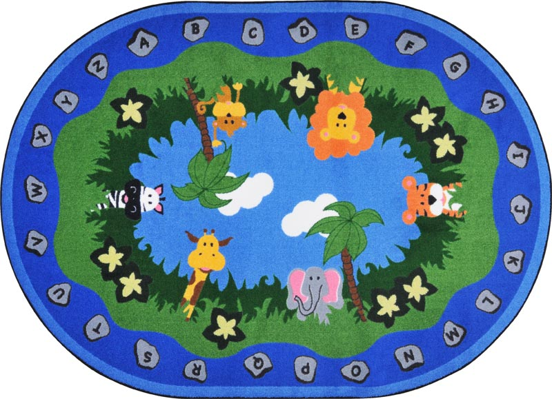 Jungle Peeps Oval Kids Rug by Joy Carpets