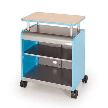 30113-cascade-series-twoshelf-mobile-presentation-cart-wout-doors-2858-w-x-19-d