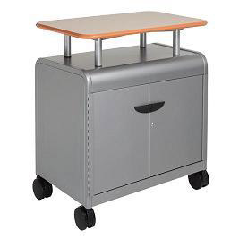 30114-cascade-series-twoshelf-mobile-presentation-cart-w-door-2858-w-x-19-d