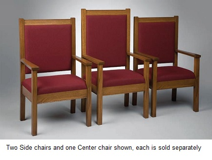 400cpc-classic-style-center-pulpit-chair-with-fabric-seat-and-back